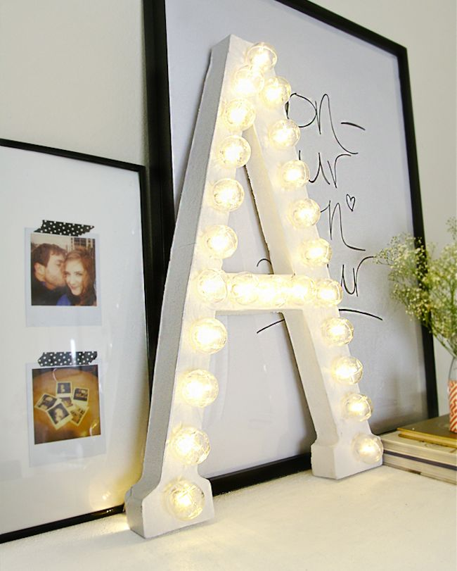 DIY Dorm Room Decor | DIY Home Decor | Diy dorm decor, Diy marquee