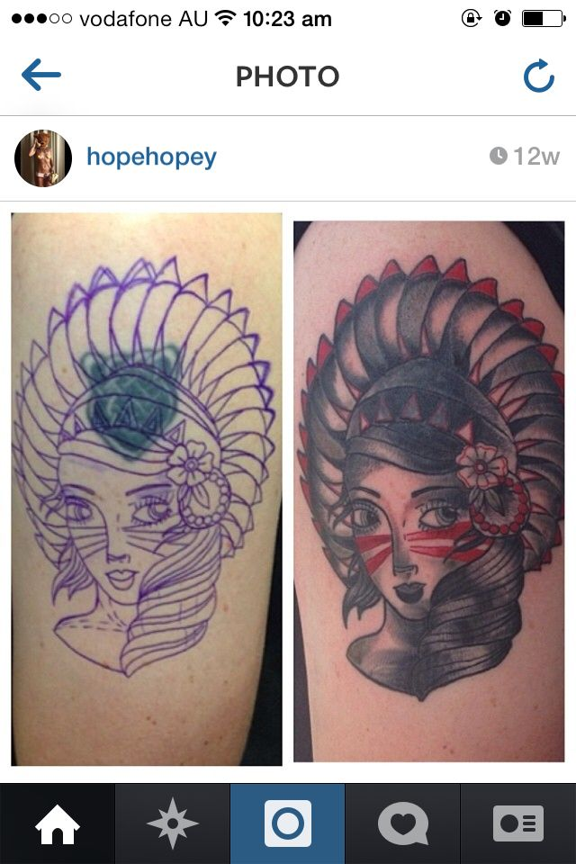 Cover up native American girl