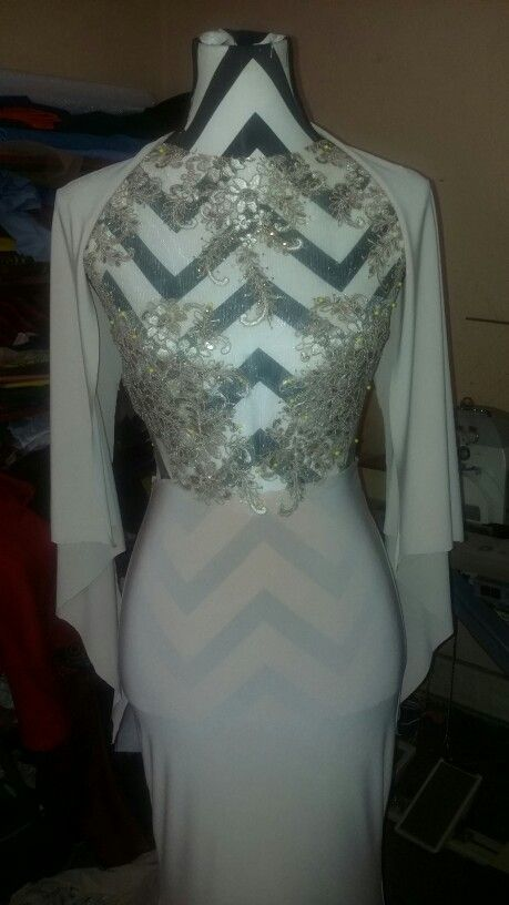 Couture evening dress by Derby'ora