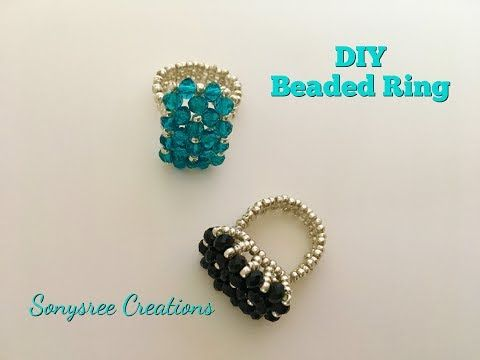 Charming Ring Beaded Ring Tutorial Super Easy ❤️ - YouTube