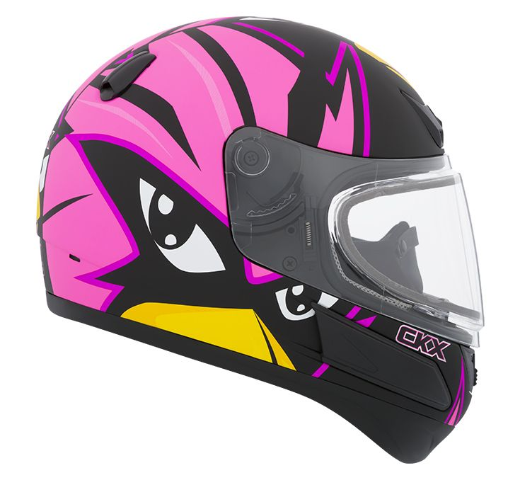 CKX 2016 - Full-Face Winter Helmet - VGK1 Mat Raven Pink Mat - ckxgear.com