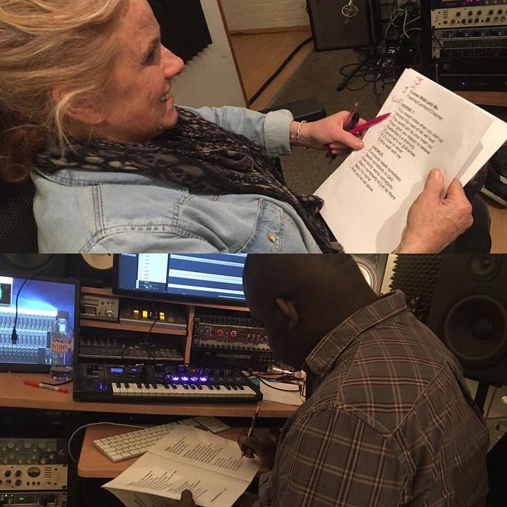 Album Bits -  Nikki listening back with Producer Livingstone - we're happy