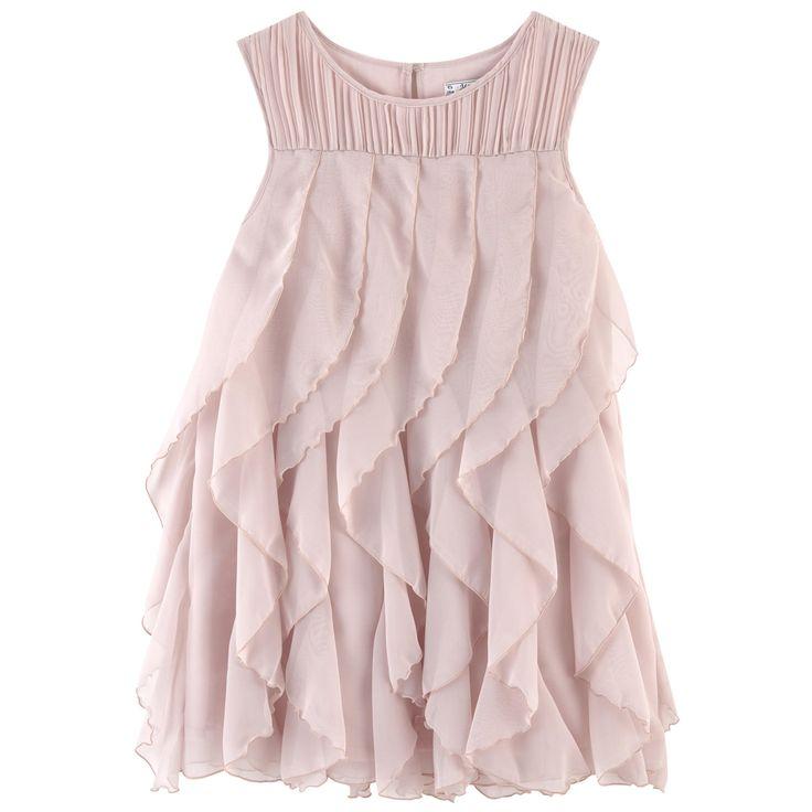 MAYORAL Платье с воланами Цвет: Увядшей розы