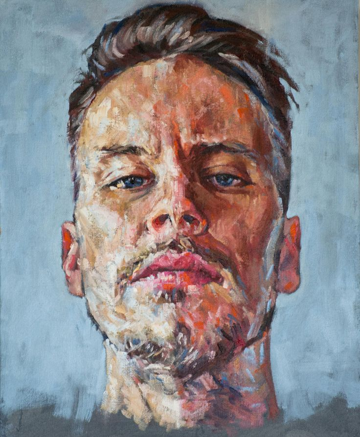 Incredible self portrait painting by Heikki Sivonen 2015.