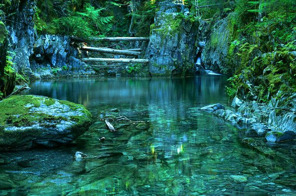 Opal Pool is part of the Opal Creek Valley, which boasts more than fifty waterfalls, five lakes and nearly forty miles of hiking trails.