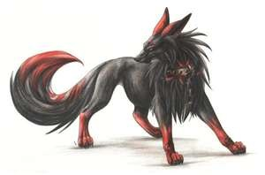 Nirut, pet of Juliet, and he is very strong, fast and sly. He will guard her to his last breath, and refuses to let her leave his sight. If he leaves her side, he will panic and strike out to those who may seem to be dangerous to him. He is also a demon wolf, and the red tips of his fur becomes a torch and his black fur can make him a shadow. He wears a collar that has a chain attached to it, from the time he was held hostage until Juliet saved him.