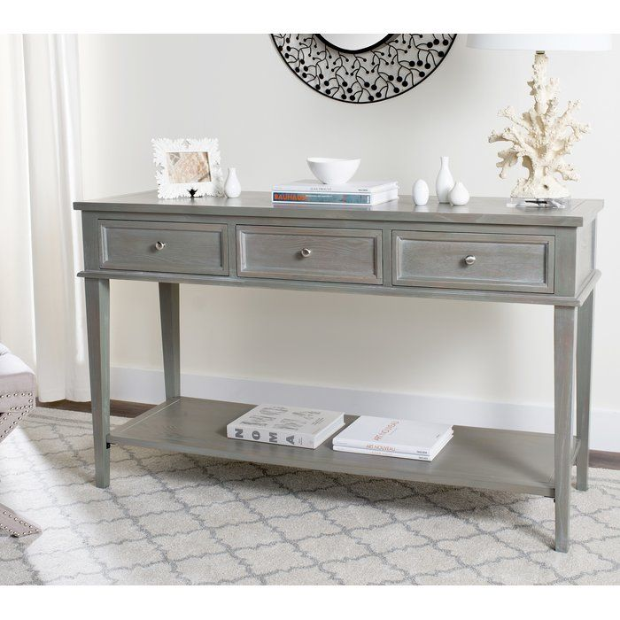 Yelena Modern Console Table Gray Console Table Modern Console Tables Modern Console