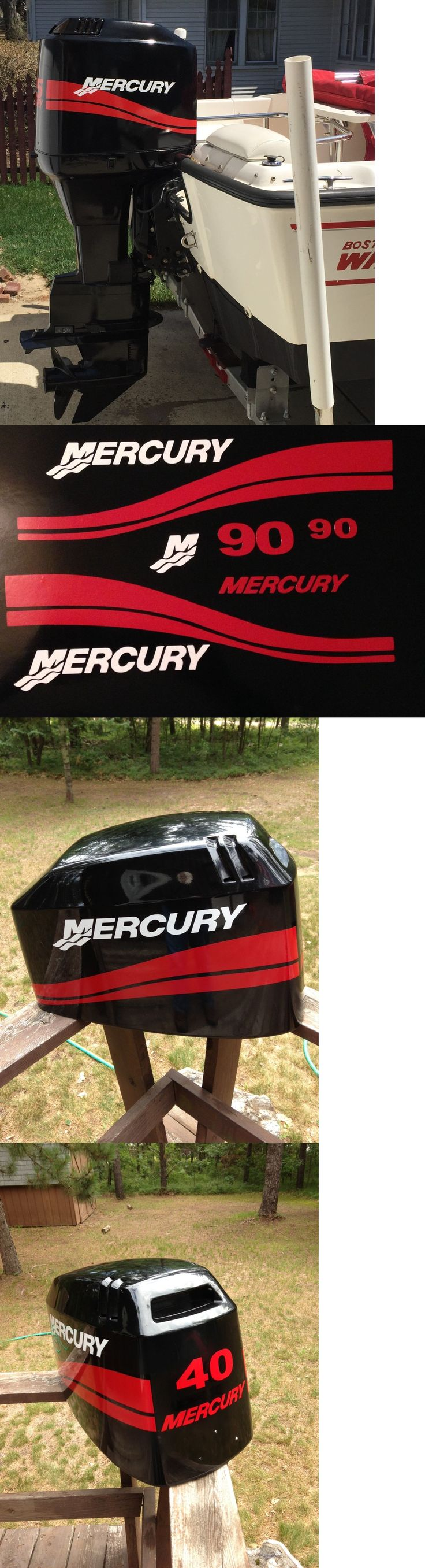 Decals Stickers and Patches 179988: Red Mercury Outboard 115 - 250 Hp Marine Vinyl Decal Set BUY IT NOW ONLY: $54.99