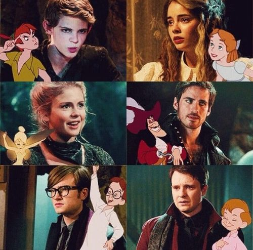 Once Upon a Time. Peter Pan. Wendy Darling. Tinker Bell. Captain Hook. John Darling. Michael Darling.