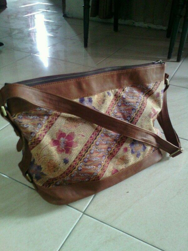 Batik lawasan mix cow leather