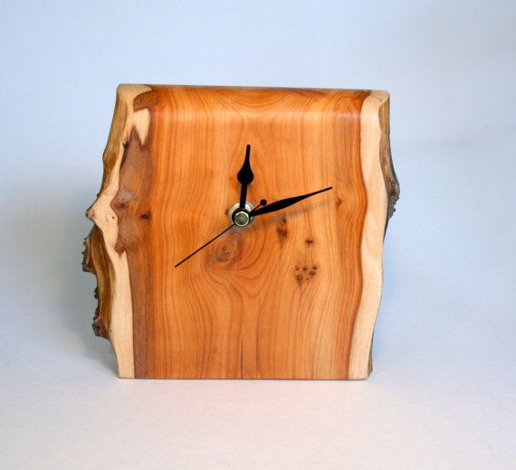 Hand Made Yew wood Clock by Tom Thumb Designs by TomThumbDesigns