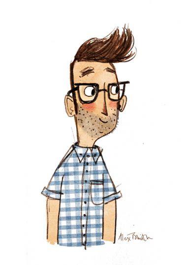 Alex T. Smith Sketchbook ~ Self Portrait