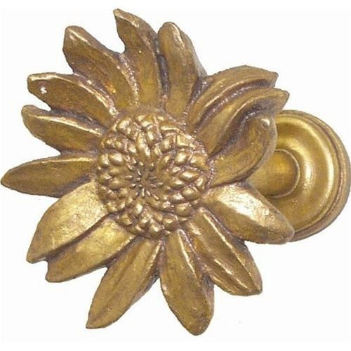 Van Gogh Sun Flower Curtain Tieback Inspired by the famous Sunflower paintings by Van Gogh, these curtain tie backs are classic. Sold individually, these curtain tiebacks are hand-cast and hand finish