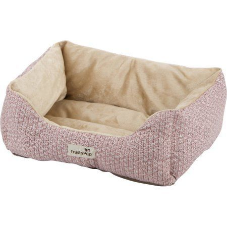 TrustyPup Cuddle Couch, Knit Solid Dark Rose, Pink