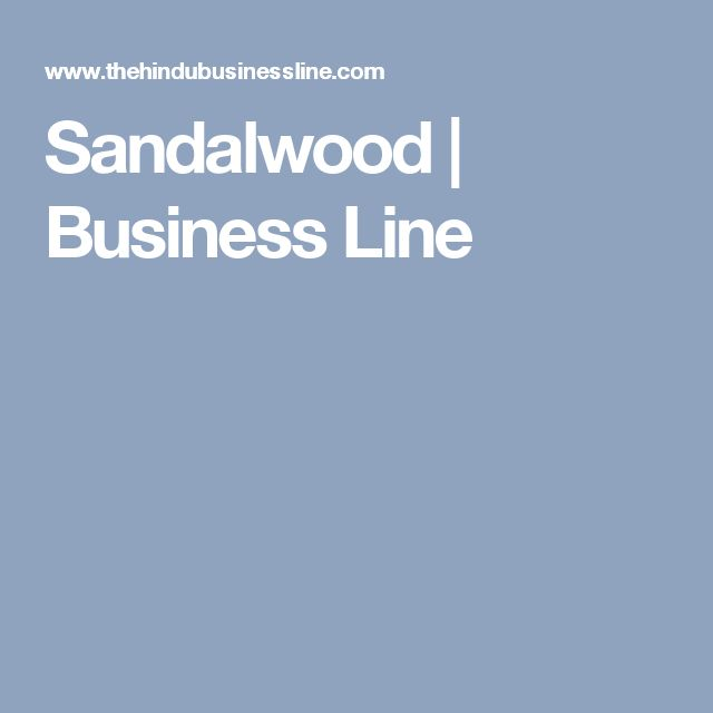 Sandalwood | Business Line