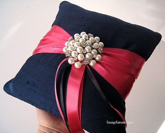 Ring Bearer Pillow Custom Wedding Ring by LaceyClaireDesigns, $44.00