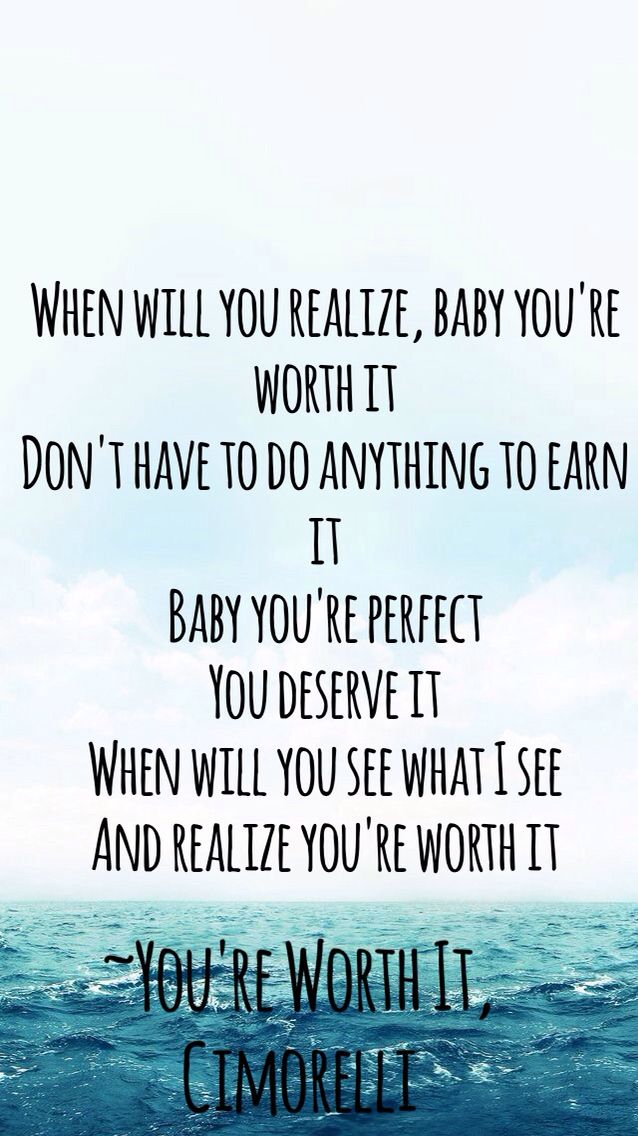 You're worth it by Cimorelli