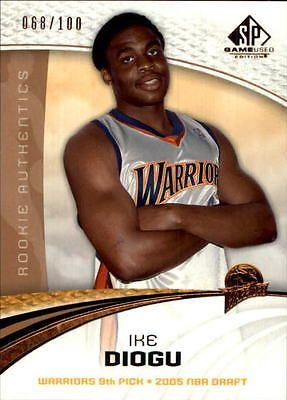 2005-06 SP Game Used 100 #105 Ike Diogu /100 - NM-MT