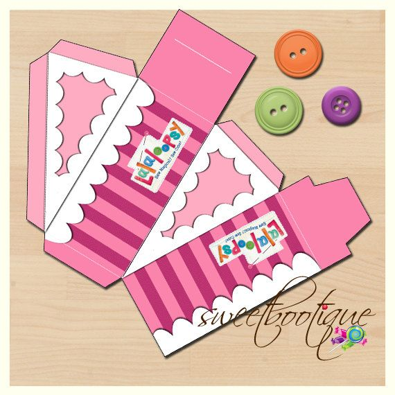 Lalaloopsy Style Cake Slice Box  Cake Box  by SweetBootique, $10.00