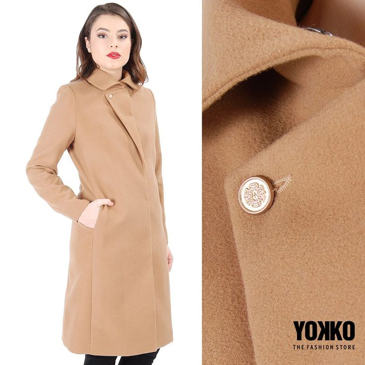 Linii minimale, un singur rever, o culoare in trend : jacheta FAITH YOKKO |fall16 #jackets #fall #winter #beige #coat #yokko #women