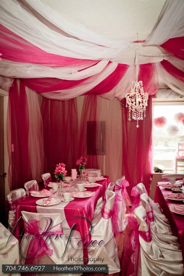 Our Princess Tea Party Room! Just give me a reason to do this...anything at all...seriously cute!