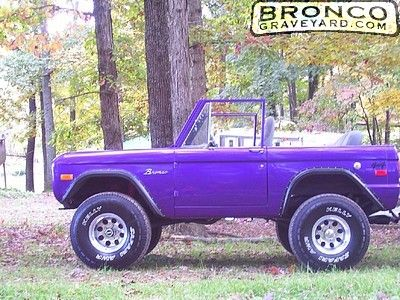 Purple people eater - Old ford bronco