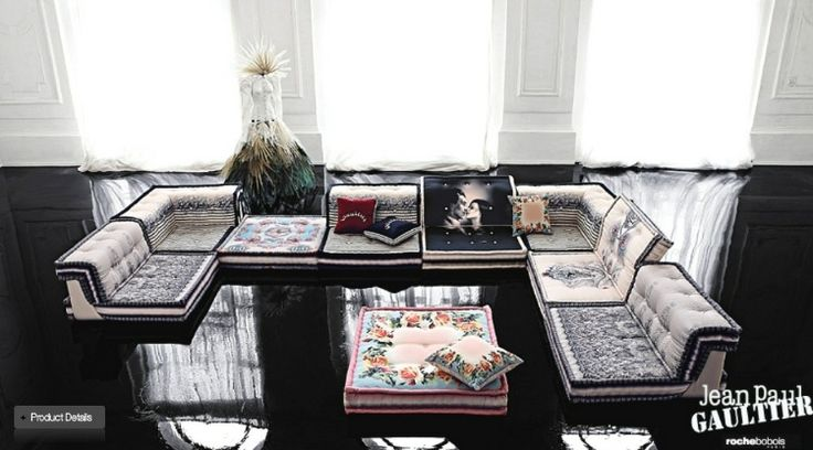 Living Rooms from Roche Bobois. Absolutely adore the mix in colours here.
