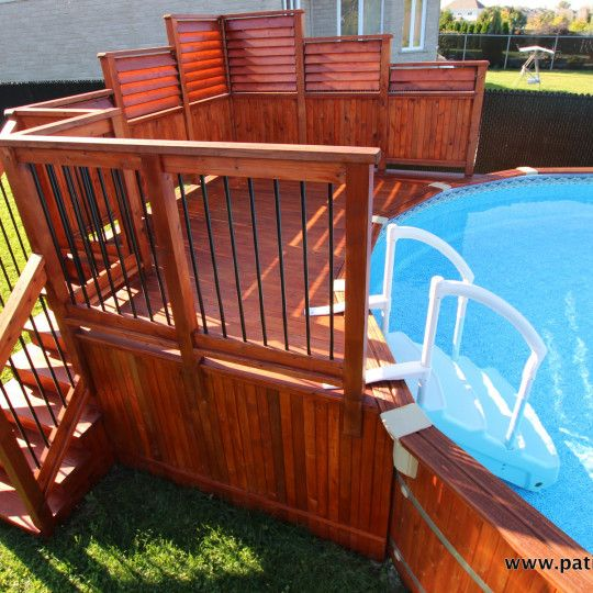 Video of the cedar above-ground pool deck Isabelle