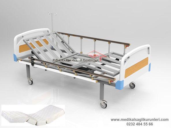2 motorlu abs başlıklı ortopedik ev tipi hastane karyolası
