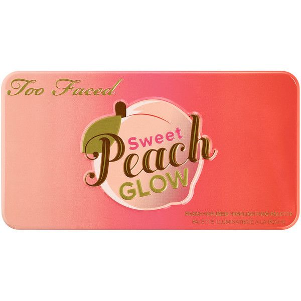 Too Faced Sweet Peach Glow Peach-Infused Highlighting Palette Cheek found on Polyvore featuring beauty products, makeup, palette makeup, highlight makeup and too faced cosmetics