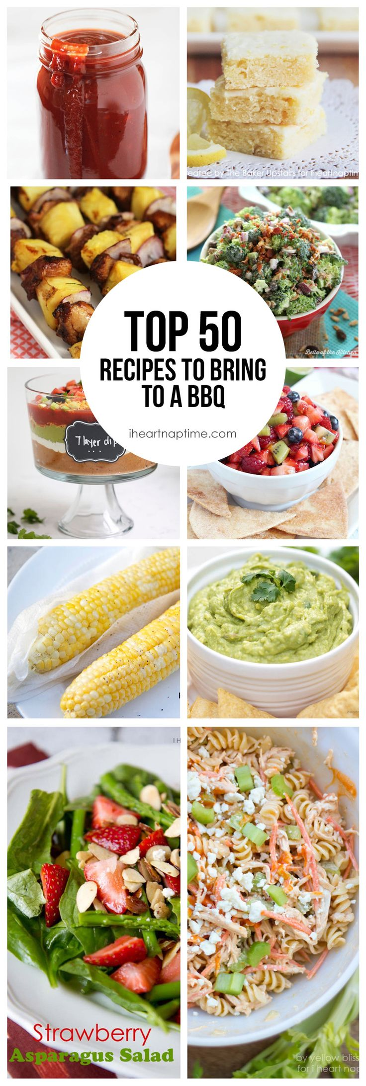 Top 50 recipe to bring to a BBQ -so many yummy recipes to try!