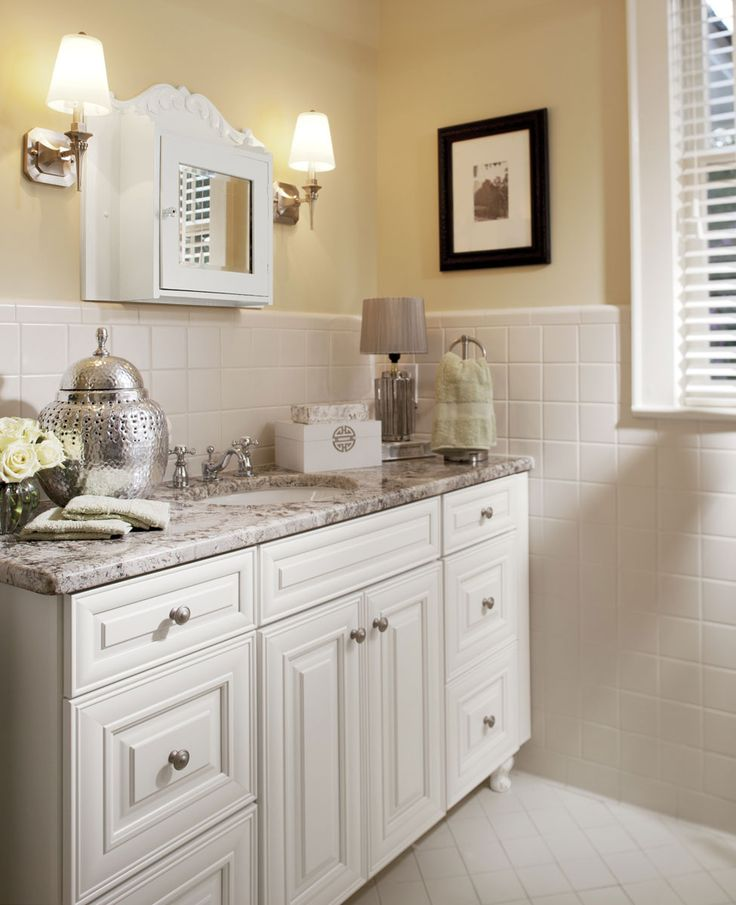 Master Bathroom With Painted Silk Cabinets