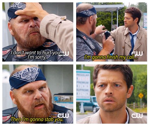 Probably my favorite scene in the season 9 opener. I love Cas. #Supernatural