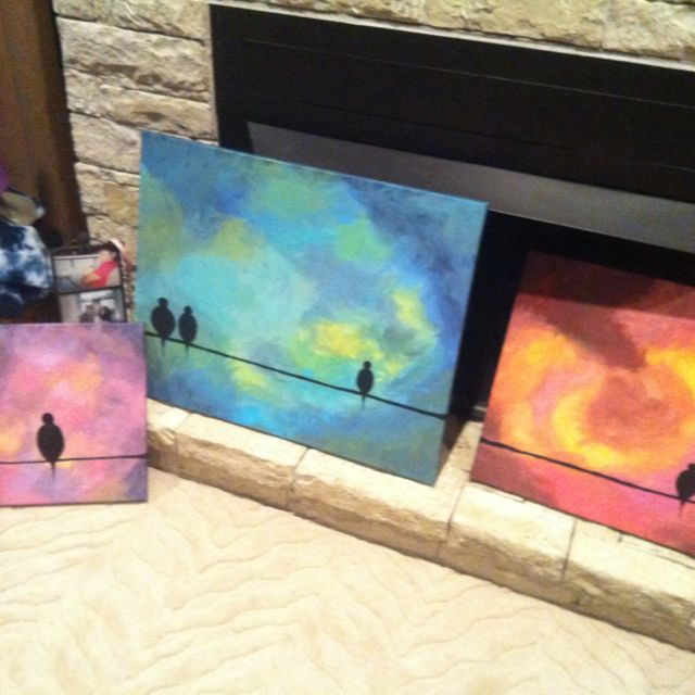 Easy acrylic paintings i did last night just go nuts with for Cool canvas painting ideas