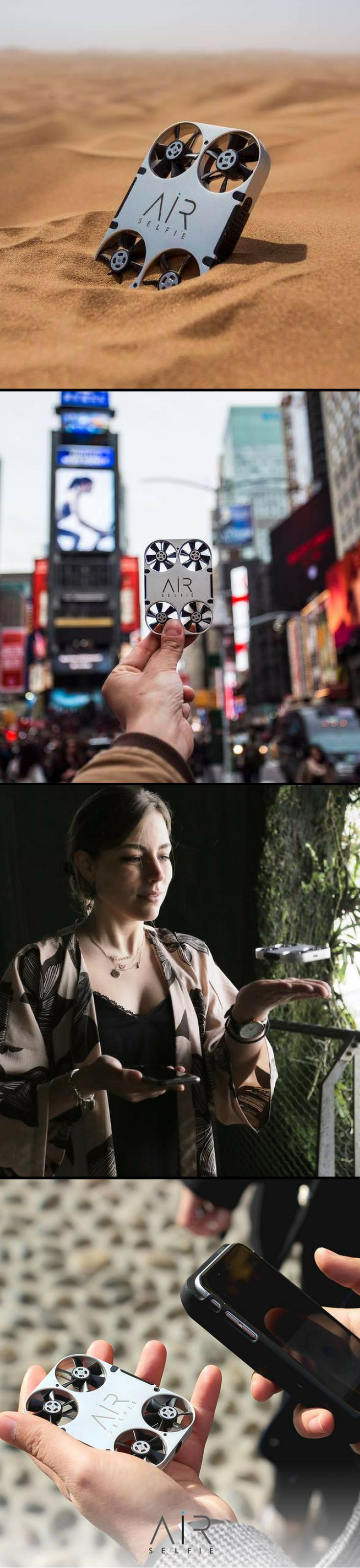 AirSelfie is Here! Your own take anywhere drone - it's light and compact, keep it in your pocket or bag... Available for iphone or Samsung Edge on Amazon! #AirSelfie #drone