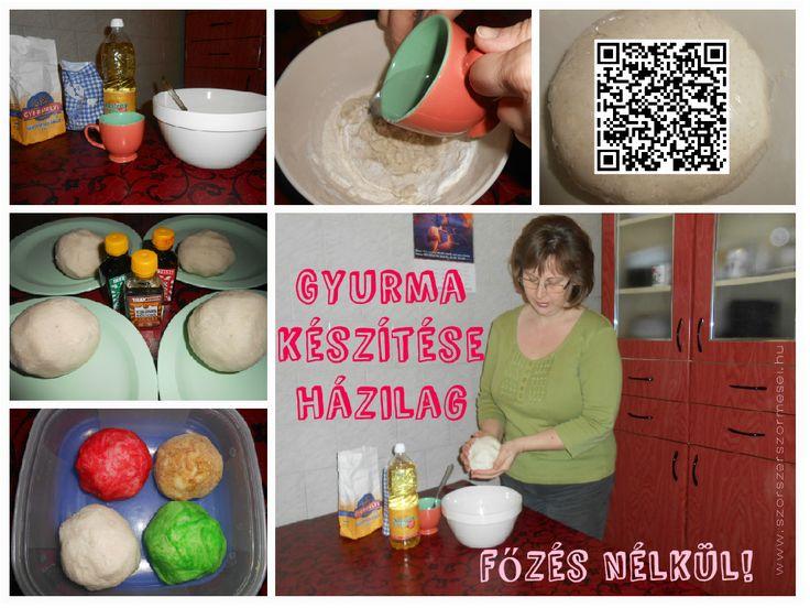 Főzés nélküli gyurma készítése házilag: http://szorszerszormesei.hu/gyurma-hazilag-fozes-nelkul/ #gyurma, #gyurmakészítés, #playdoughDIY,