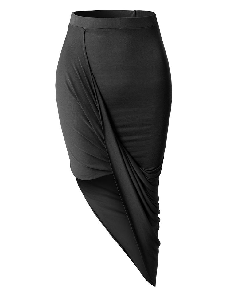 Wrap yourself in this super asymmetrical banded waist wrap cut out hi low maxi skirt. Wear this super comfortable skirt to the beach as a swimsuit cover up and go for drinks at night with some heels.