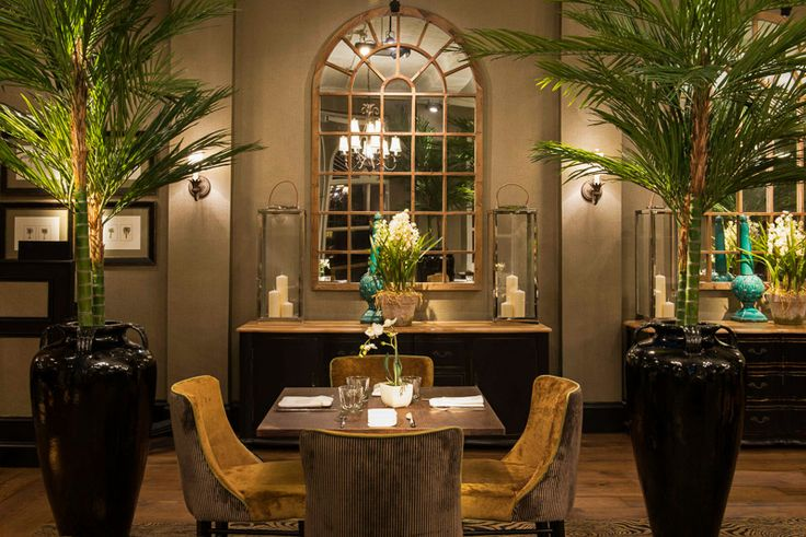 The greenery adds a colonial feel to this restaurant