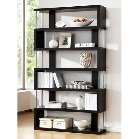 Modern Wood Shelves : Xavier Modern Zig Zag Display Shelves  For the Home  Pinterest