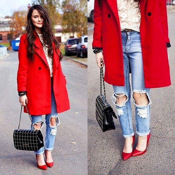 Choies Coat, Choies Jeans, Moschino Bag, Aldo Heels