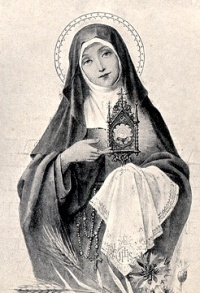 The 41 years of St. Clare's religious life are a scenario of sanctity: an indomitable resolve to lead the simple, literal gospel life as Francis taught her; courageous resistance to the ever-present pressure to dilute the ideal; a passion for poverty and humility; an ardent life of prayer; and a generous concern for her sisters.  She served the sick, waited on table, washed the feet of the begging nuns. She came from prayer, it was said, with her face so shining it dazzled those about her.