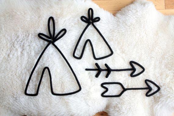Tipi et Flèche au tricoton À l'unité ou ensemble par TricoTiCota