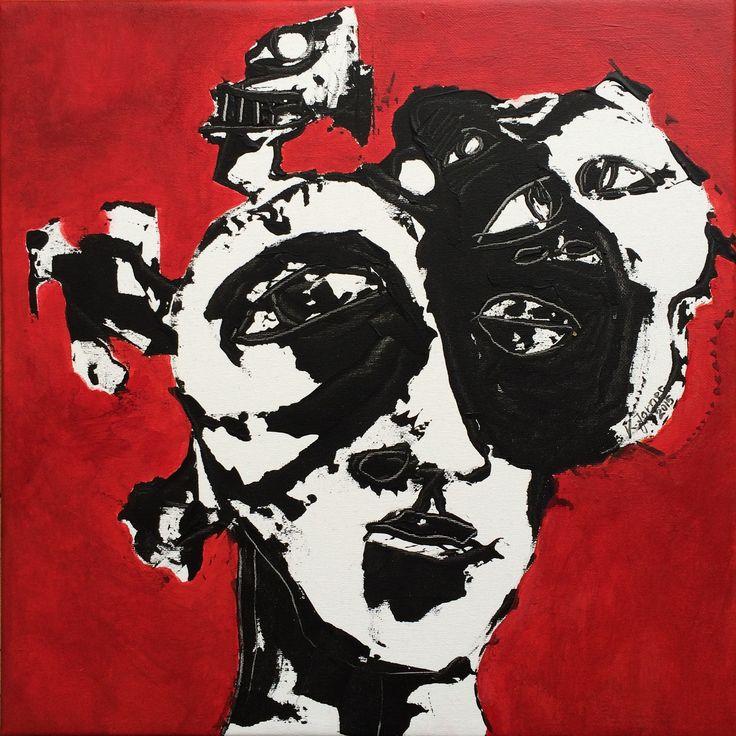 Kell Jarner 2015. Two-faced artist. (Sold)