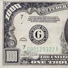 ATTRACTIVE AU 1934 $1000 DOLLAR BILL NOTE CHICAGO …