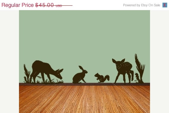 SPRING SALE Forest theme Nursery Vinyl Wall by MommyofTyDesigns, $36.00