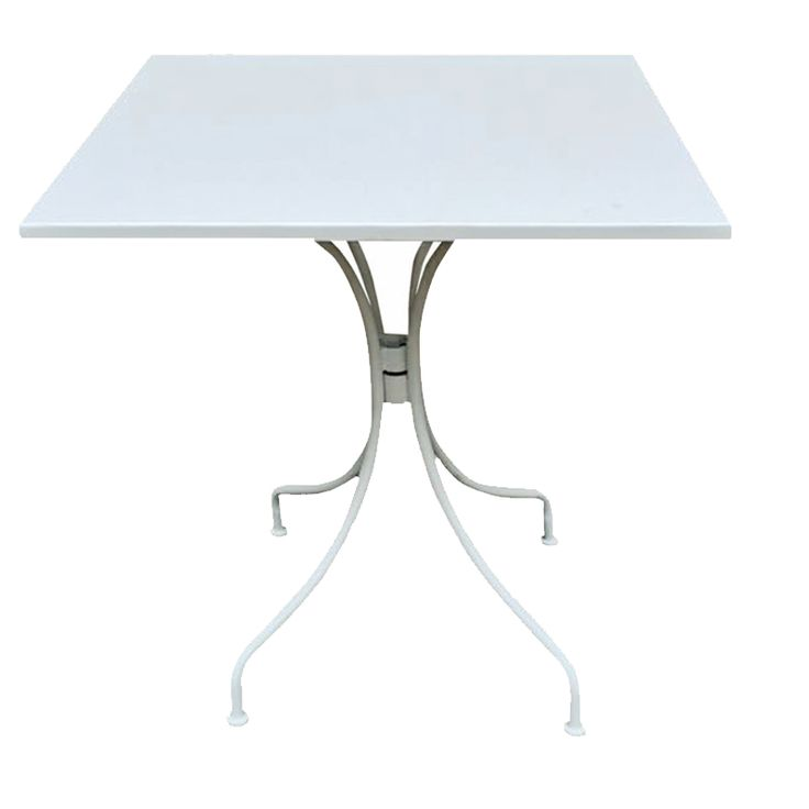 park garden table square steel white