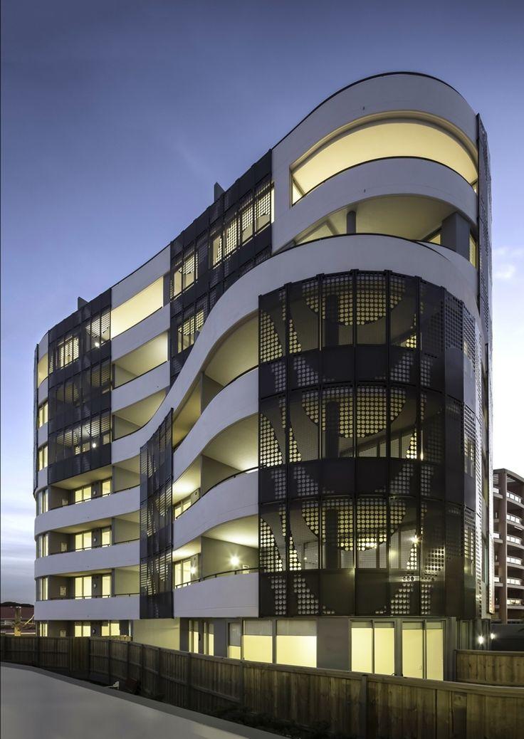 Longbeach Apartments at dusk