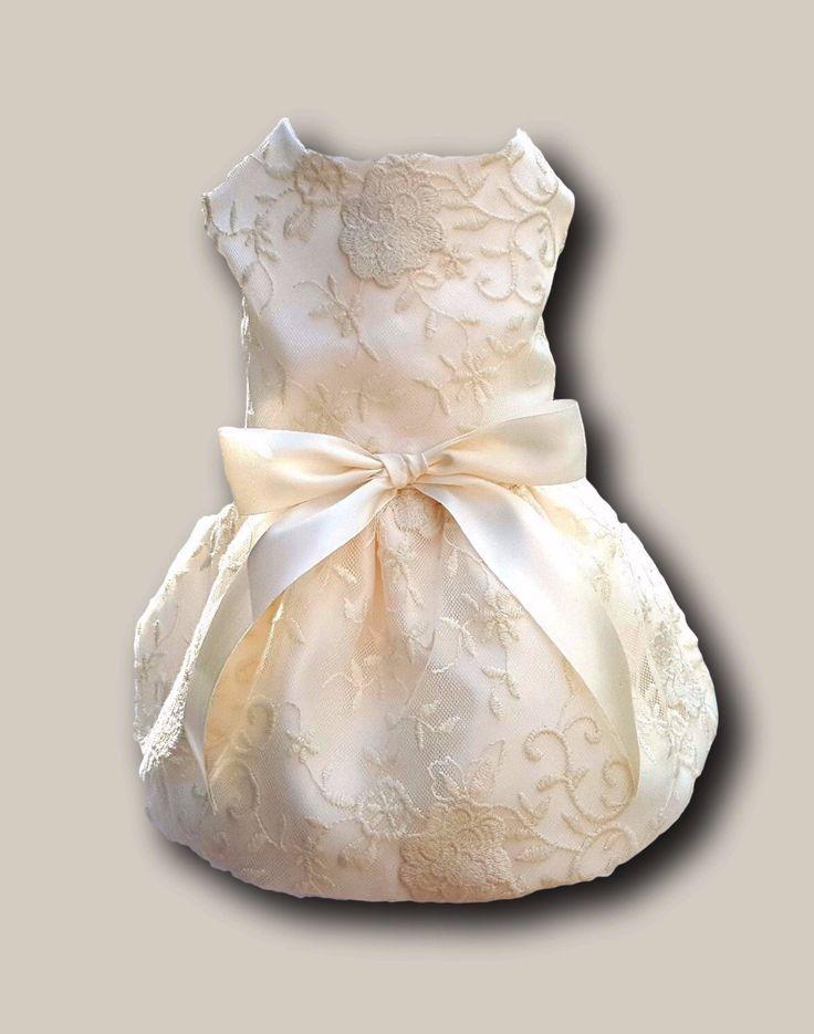 Ivory Satin and Lace Wedding Dress