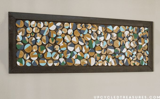 How to transform fallen branches into wood slice art | upcycledtreasures.com