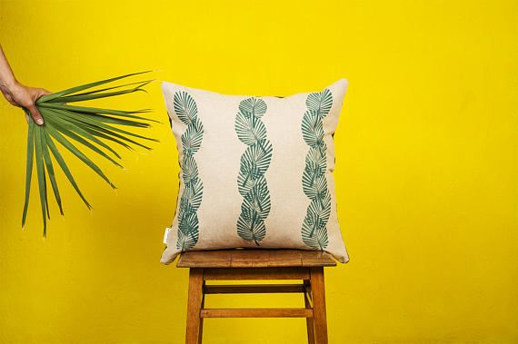 VERTICAL FANPALM LEAF - Cushion cover